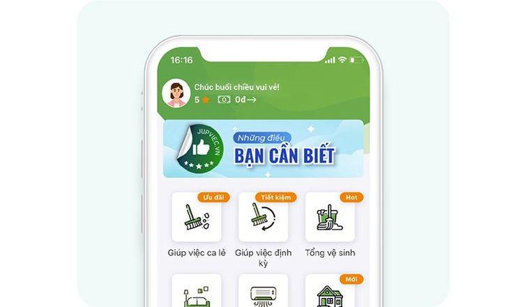 app giúp việc theo giờ uy tín
